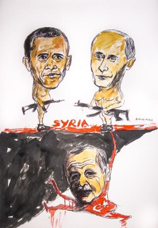 Political cartoons by artist Kaya Mar