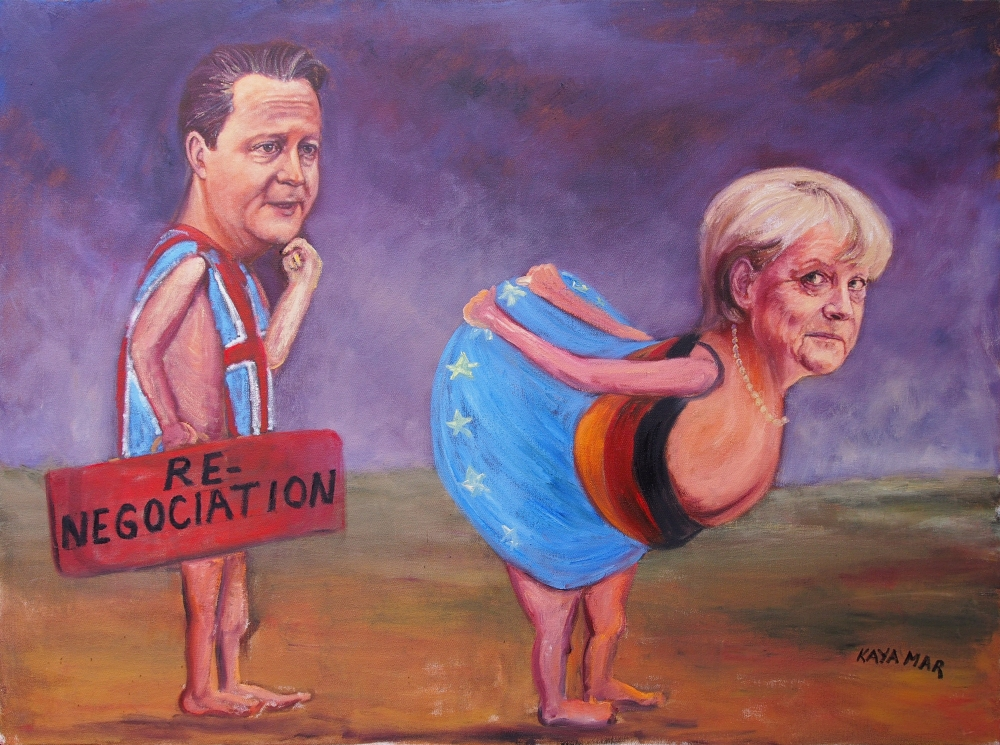 53 David Cameron & Angela Merckel EU renegotiation